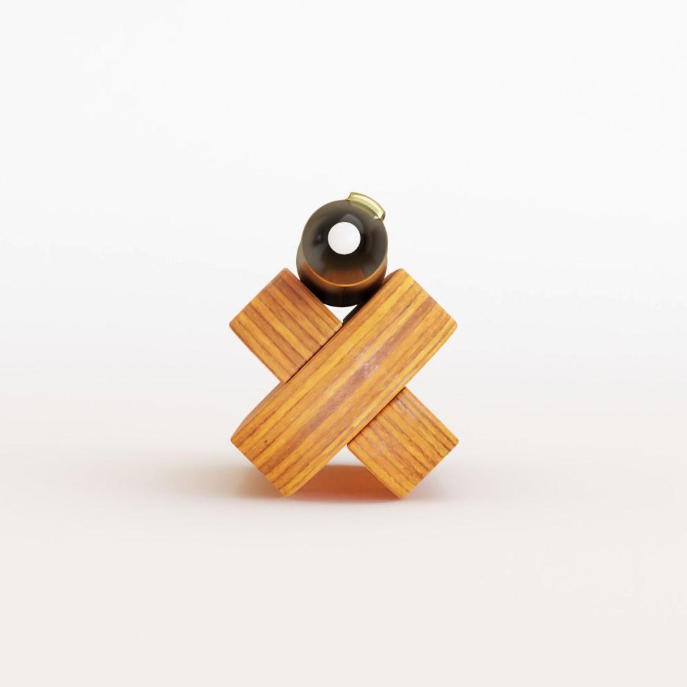 the wooden pen holder