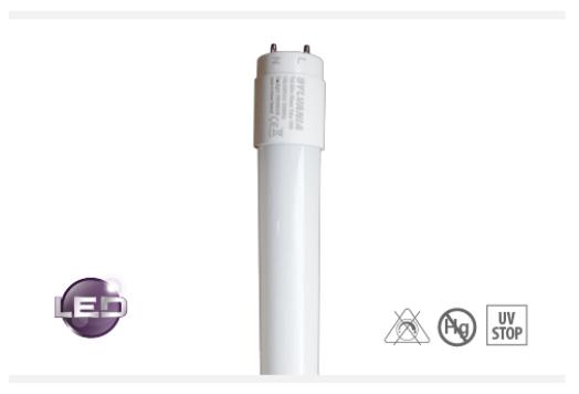 Tubo T8 LED en vidrio 9w - 18 w  120V/240V - 4000k a 6500k   15000 h.v.u