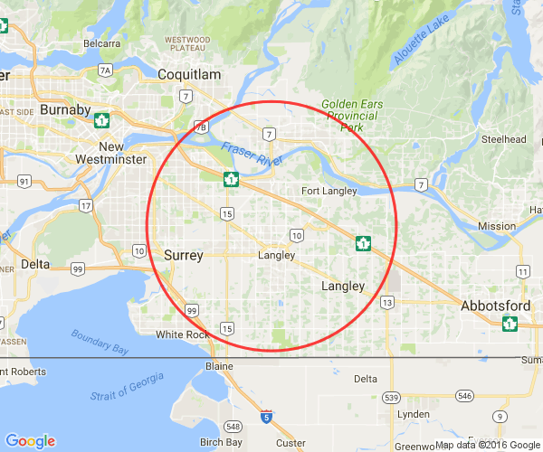 map of Langley British Columbia