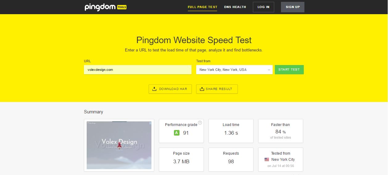 Volex Design Super Fast Loading Site