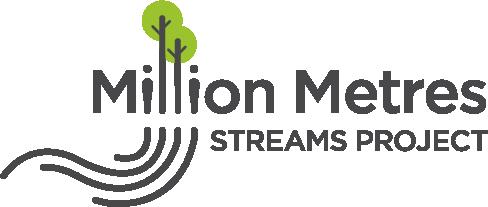 million metres streams project logo