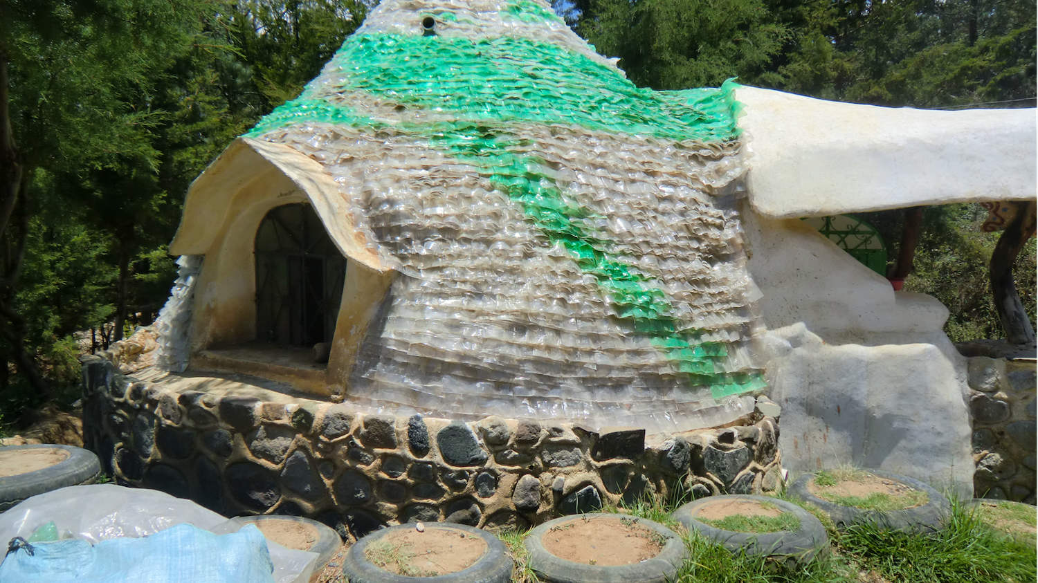 Long Way Home Classroom Roof Shingles made from Plastic