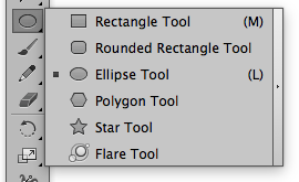Ellipse Tool on the Illustrator Tool Bar