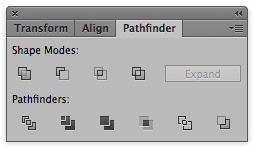Pathfinder panel with all of its functions.