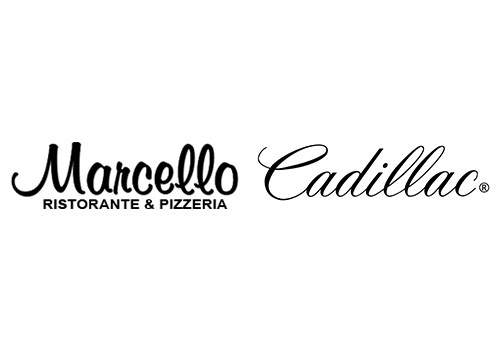 Marcello and Cadillac logos compared.