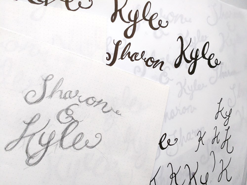 Sketches of Sharon & Kyle logo
