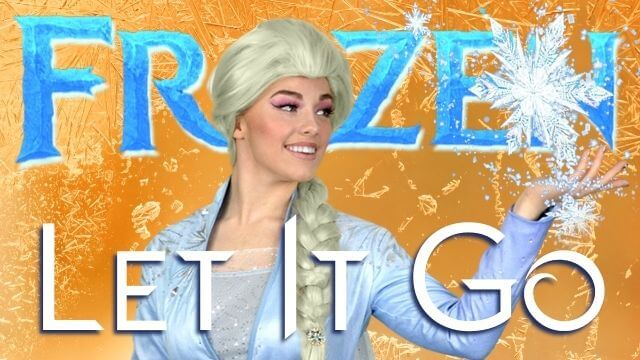 A fun beginner Disney Frozen video with dance choreography and dance tutorial combo taught by Elsa!