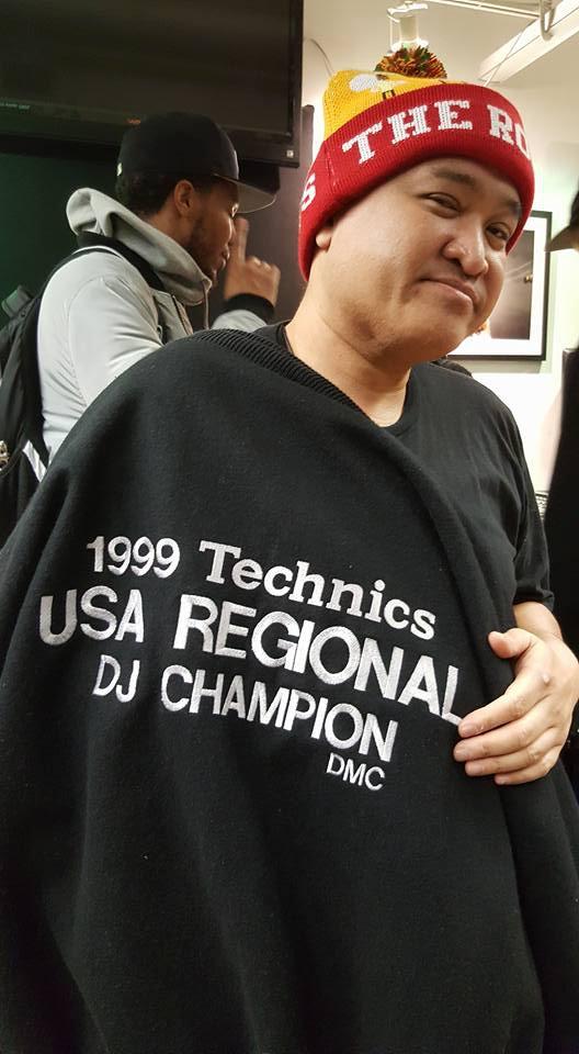 Roli Rho Sporting his DMC Jacket