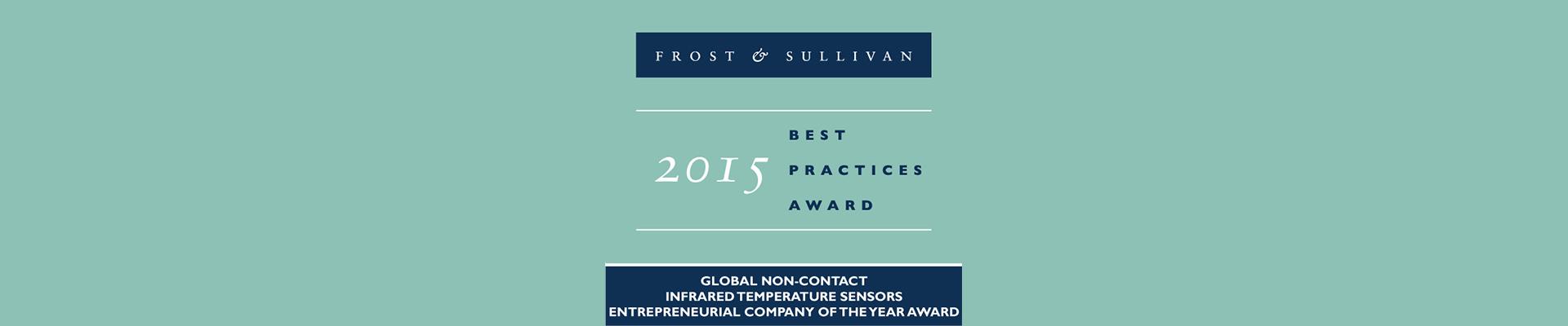 Bart van Liempd with Frost and Sullivan Award for Exergen Global