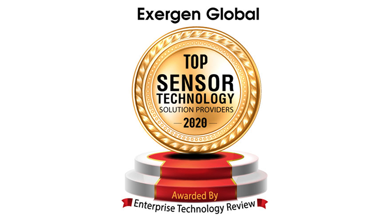 Top 10 sensor company award for Exergen Global