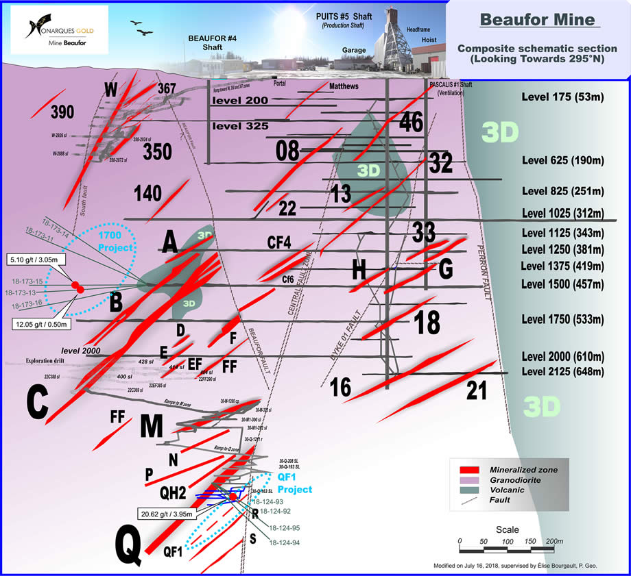 Monarques Gold Property Location Map