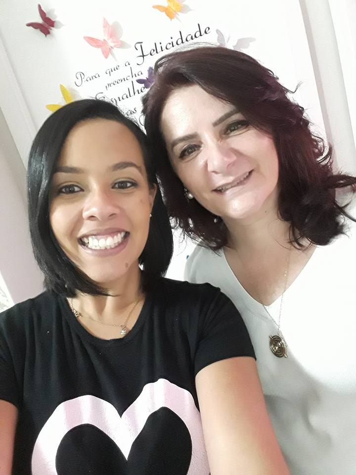 Angela Gardinalli com aluna Amanda