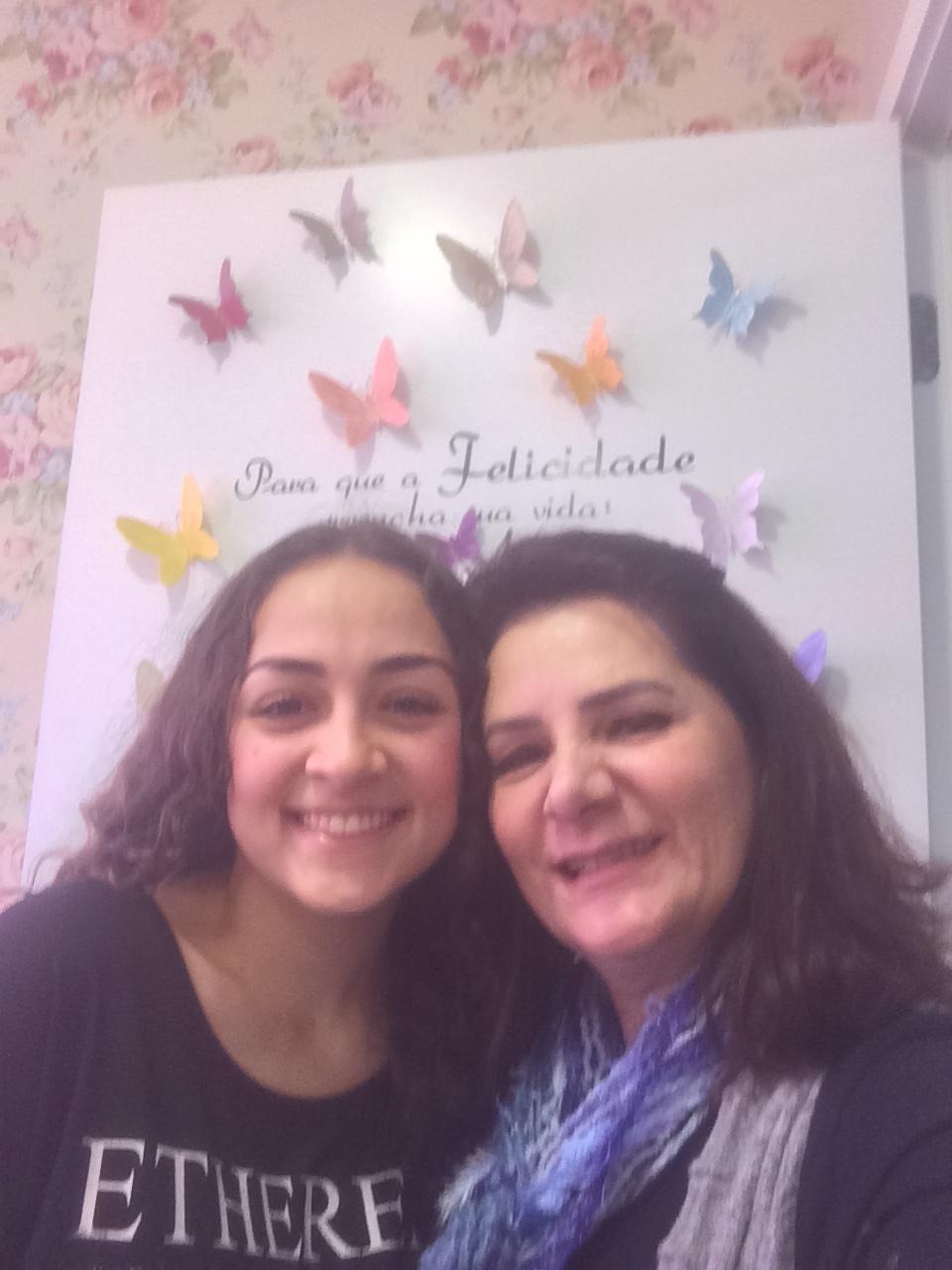 Angela Gardinalli e aluna Catarina