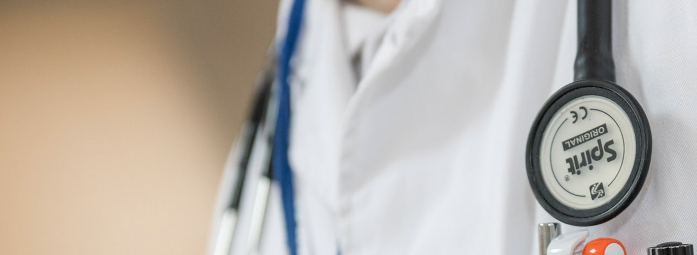 closeup of doctor with stethoscope