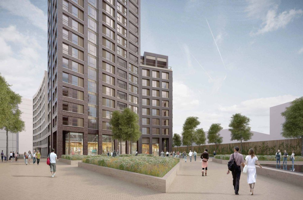 """The new """"West Silvertown Place"""" and Block A, situated next to West Silvertown DLR station."""