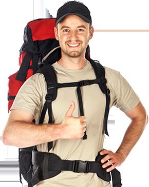 A backpacker