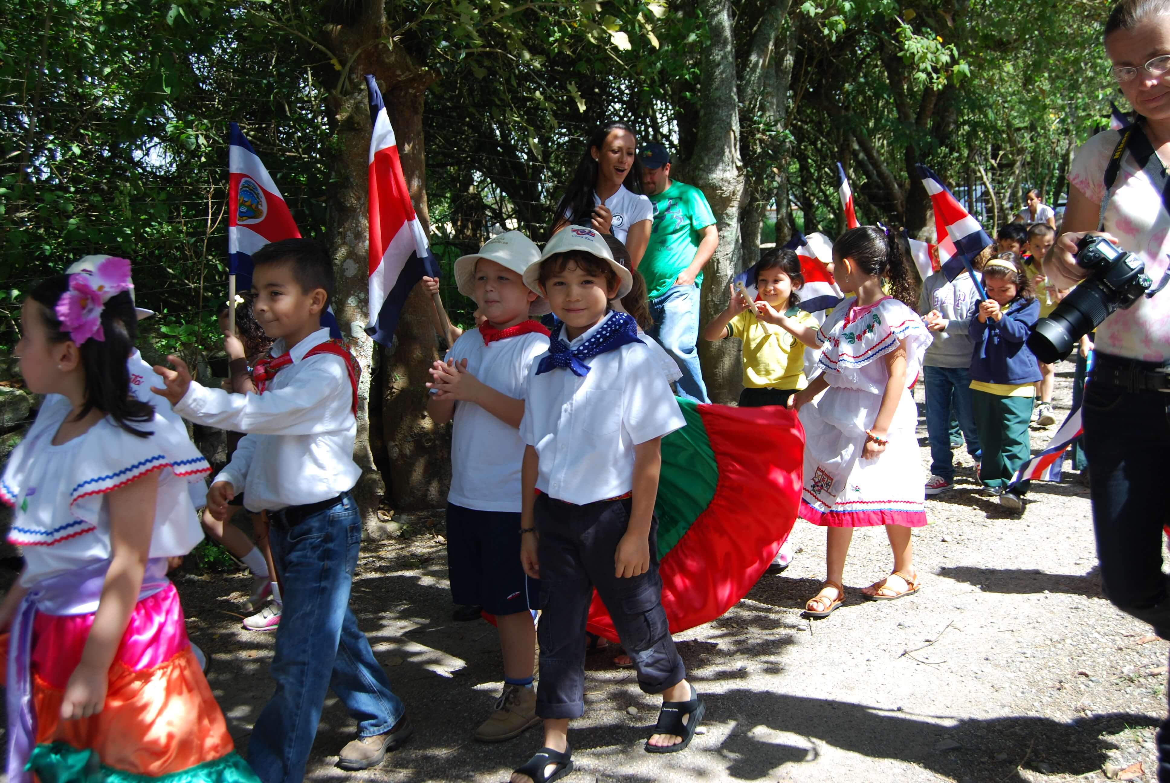 Actividad escolar del día de la independencia