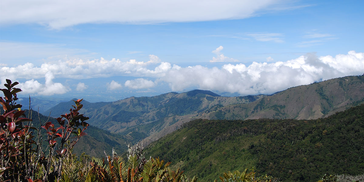 View point from Chirripo mountain