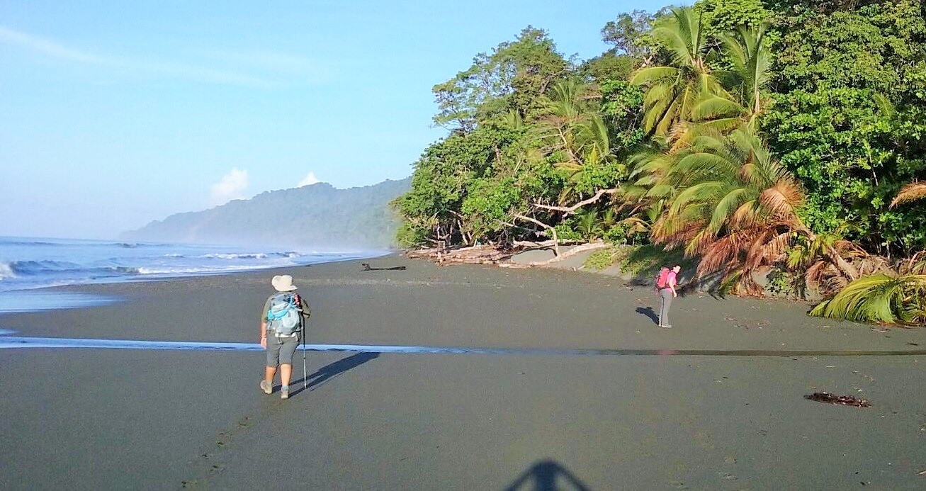 Hike along Carate beach