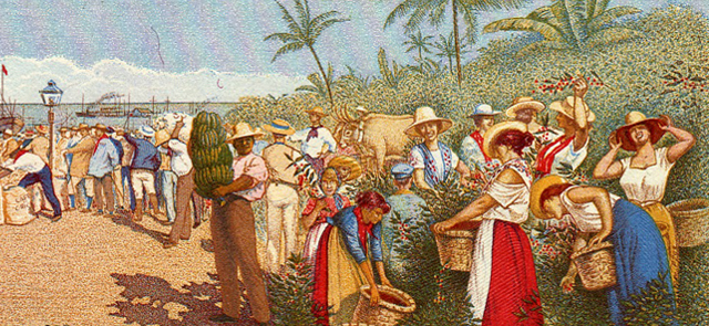 imagen de la pintura que adorno el billete de 5 colones de costa rica