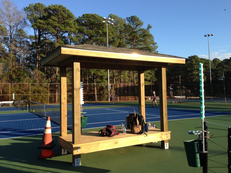 Tennis Court Shelter Benches Windscreens
