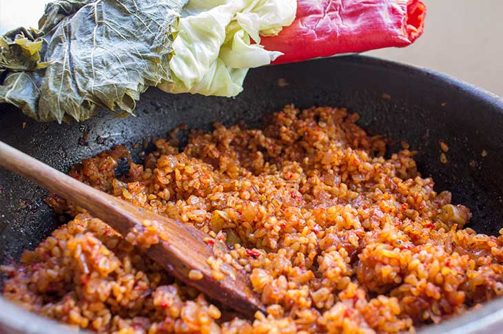 Bulgur stuffing