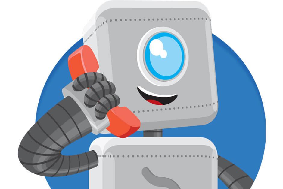 Imagem do mascote da iugu fazendo uma ligação.