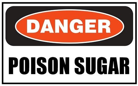 In a true life-threatening emergency you're better off eating nothing than sugar!