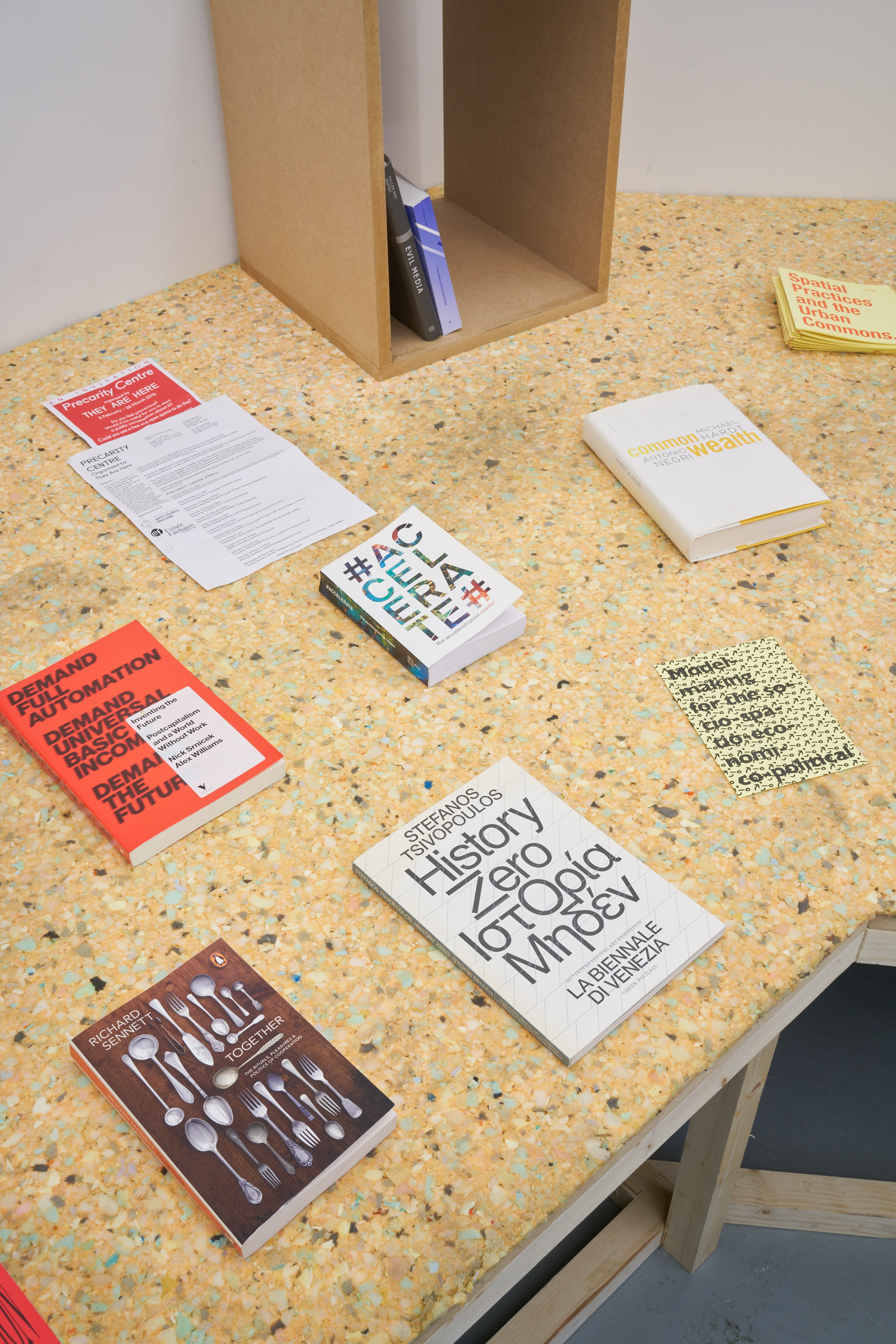 Installation shot, research library. Tenderpixel.