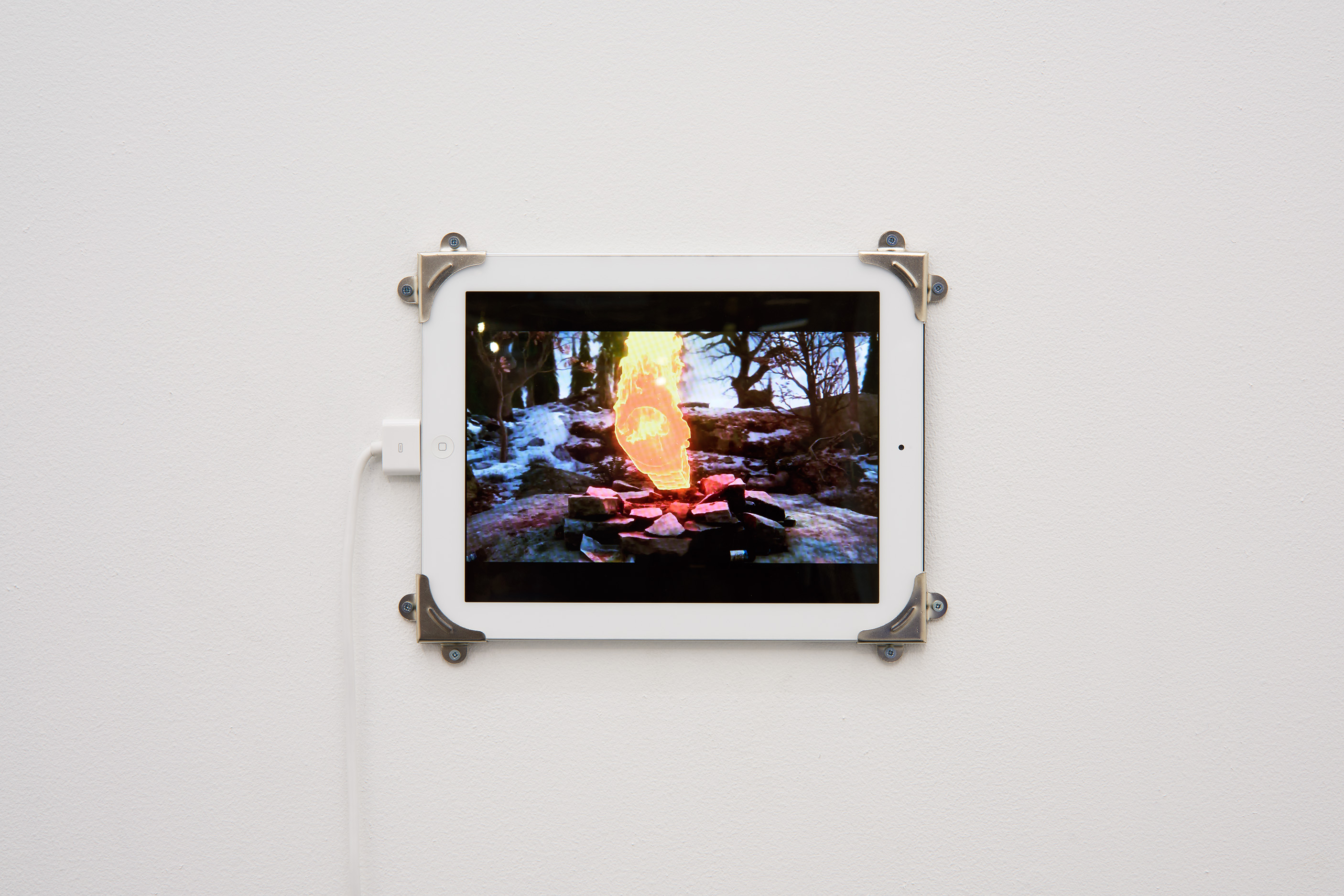 Rustan Söderling,​ Fire Gazing,​2016. Installation view. Tenderpixel.