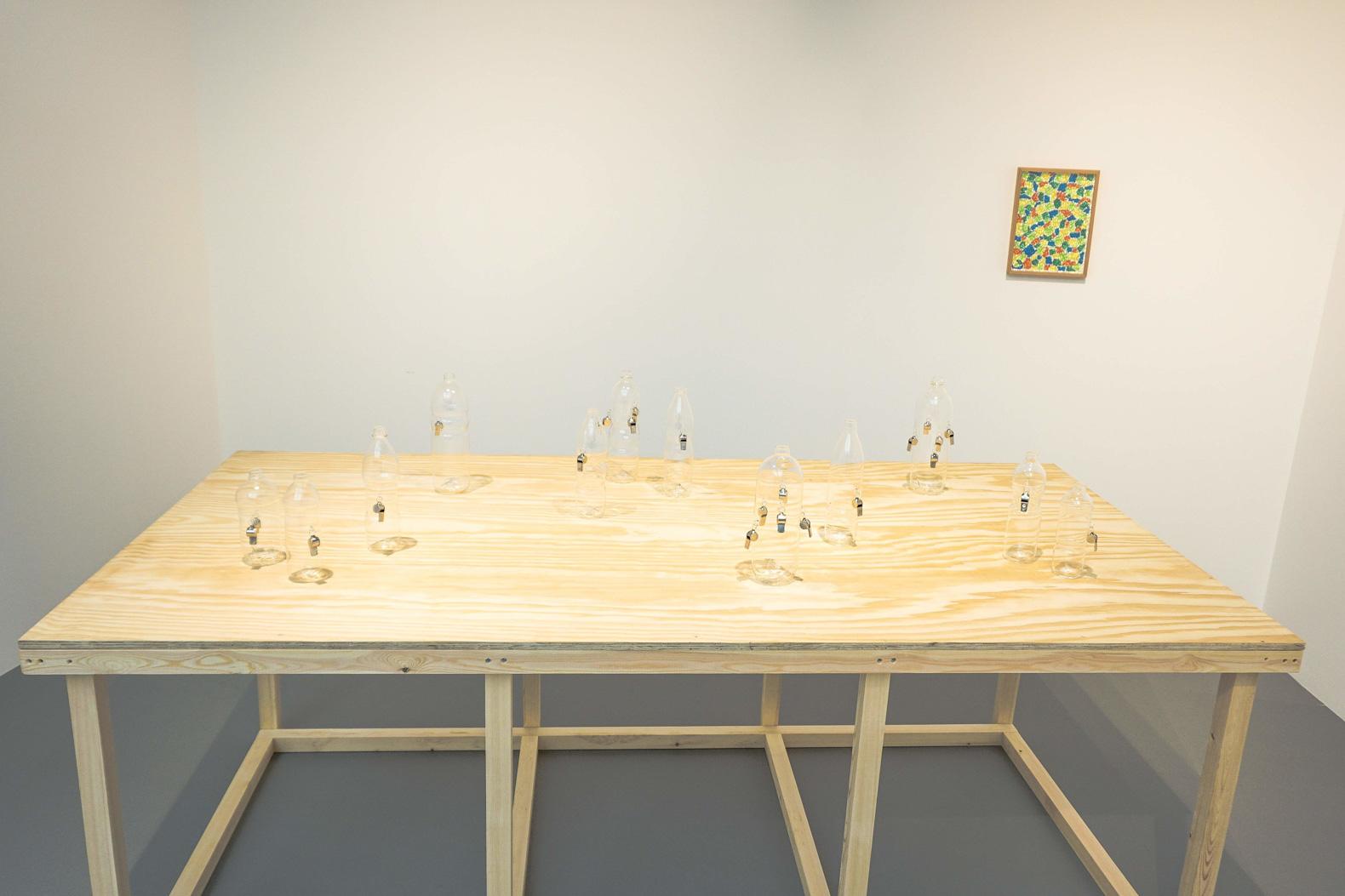 Richard Healy, The Pines, Installation view, ArtInternational Istanbul. Tenderpixel.