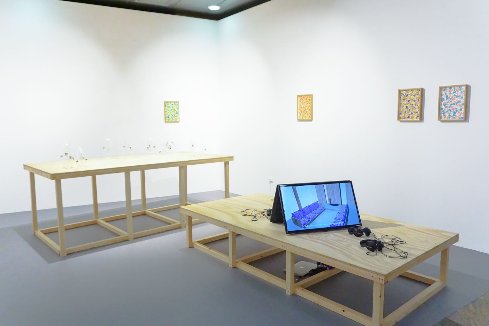 Richard Healy, The Pines, Installation view. ArtInternational Istanbul 2015. Tenderpixel.
