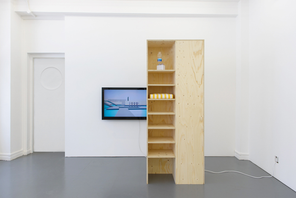 Richard Healy, Prone Positions, a solo presentation at Rowing Projects, London 2013. Installation View. Image credit Sol Archer.