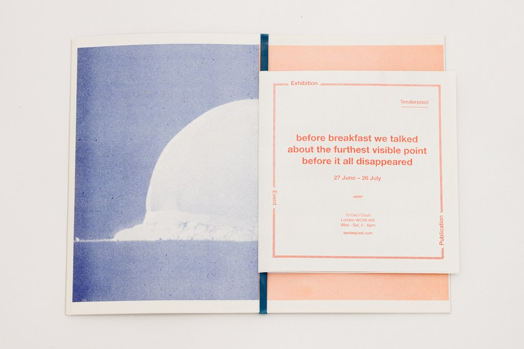 Publication: before breakfast conversations. Designed by Rowena Harris. Published by Tenderpixel and Tenderbooks.