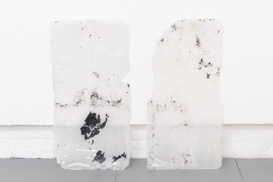 Andrea Zucchini, Untitled (2014), Glass wax, slate.