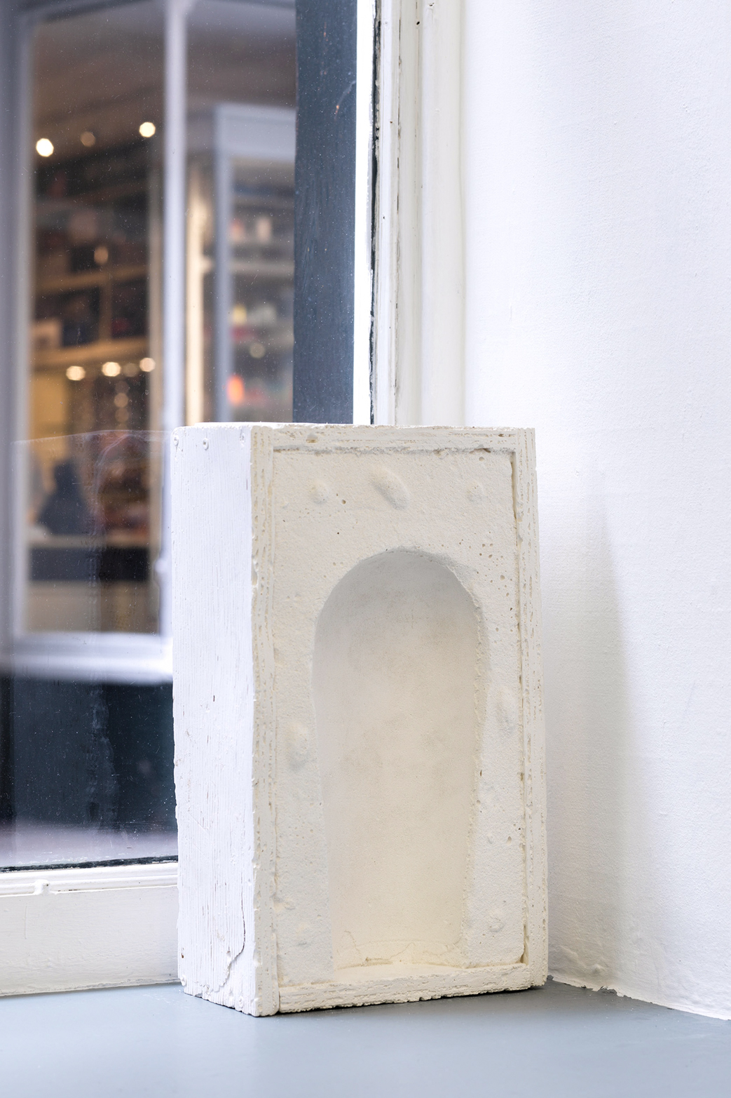 Andrea Zucchini, Untitled, 2014, plaster cast with rainwater.