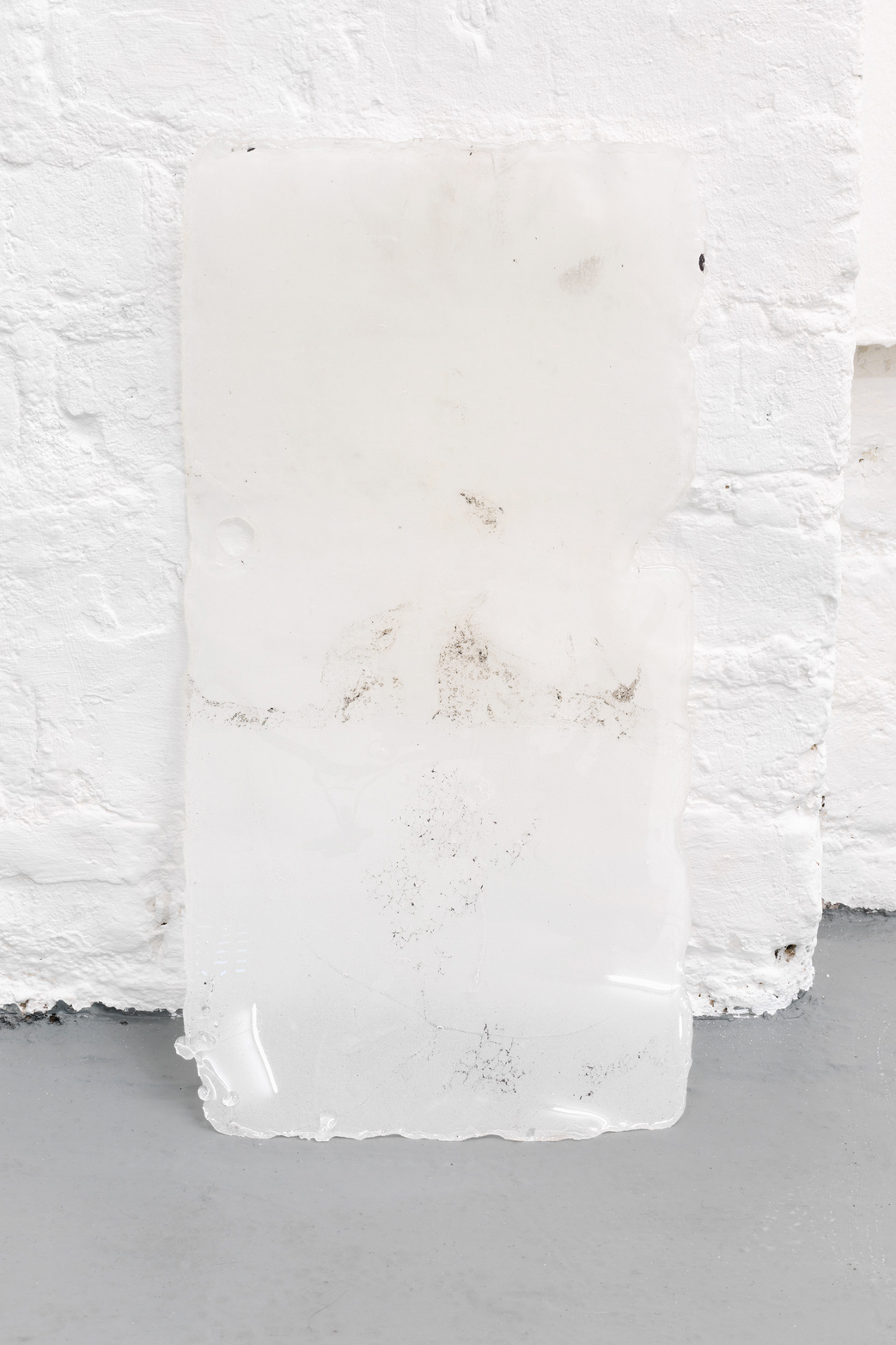 Andrea Zucchini, Untitled, 2014, glass wax, slate. Tenderpixel.