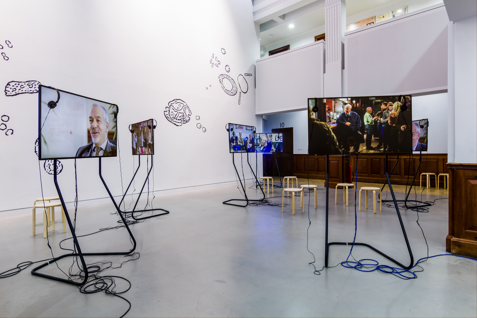 Rehana Zaman, Some Women Other Women and all the Bittermen, 2014. Installation View, The Tetley, Leeds, UK.