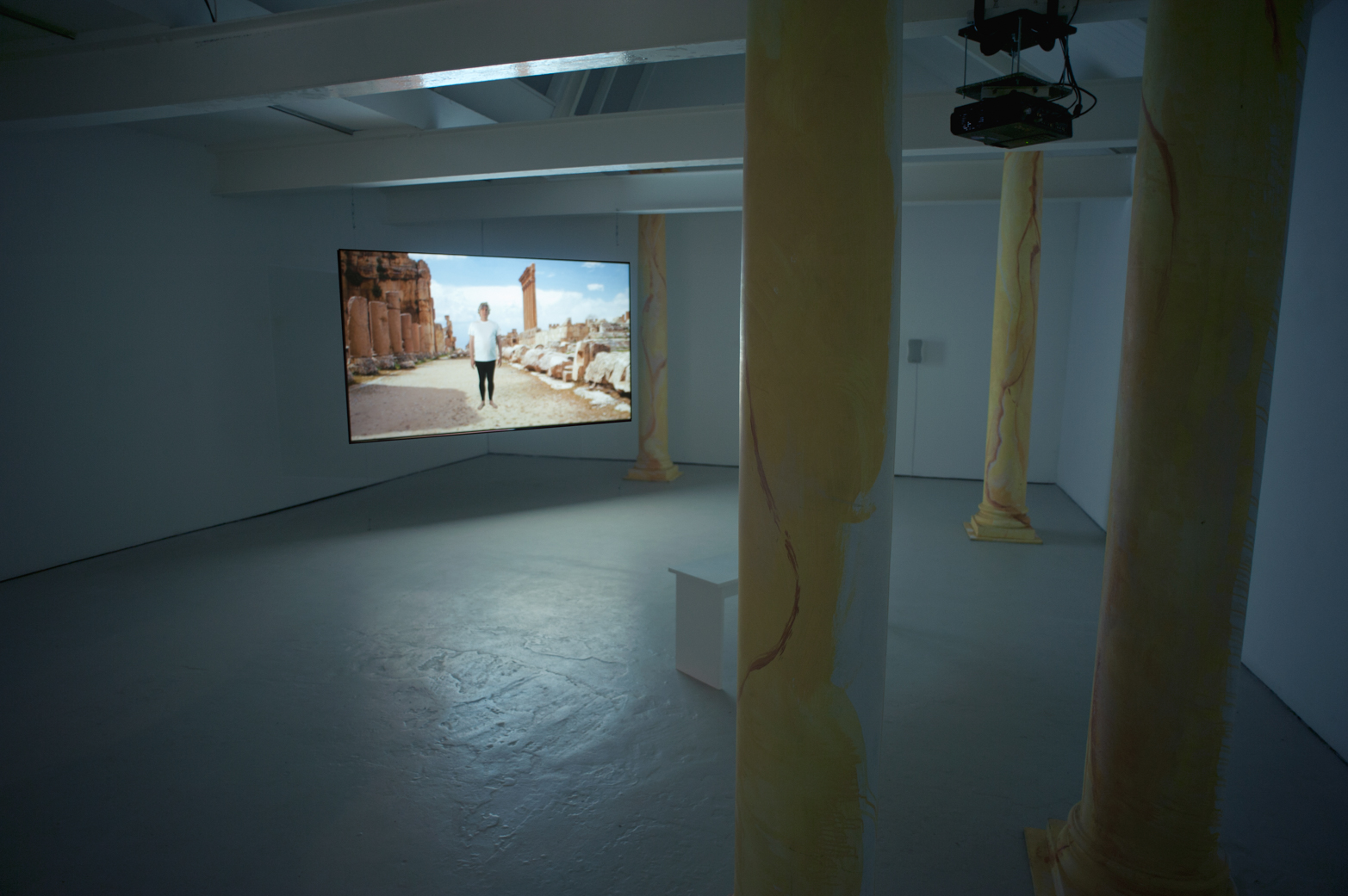 Rehana Zaman, What an artist dies in me/ Exit the Emperor Nero, 2013. Installation view, Outpost, Norwich.