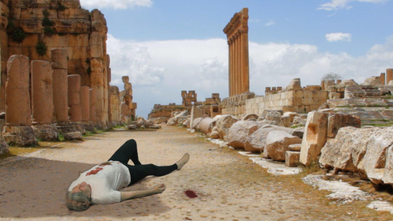Rehana Zaman, What an artist dies in me/ Exit the Emperor Nero, 2013. Video still.