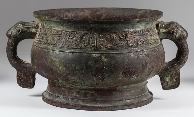 Asian Chinese Archaic Bronze Vessel Gui Western Zhou Dynasty, New York Auction House, Houston Auction, Dallas Auction, San Antonio Auction, Chinese Auction, 中国艺术拍卖, 青铜, 簋
