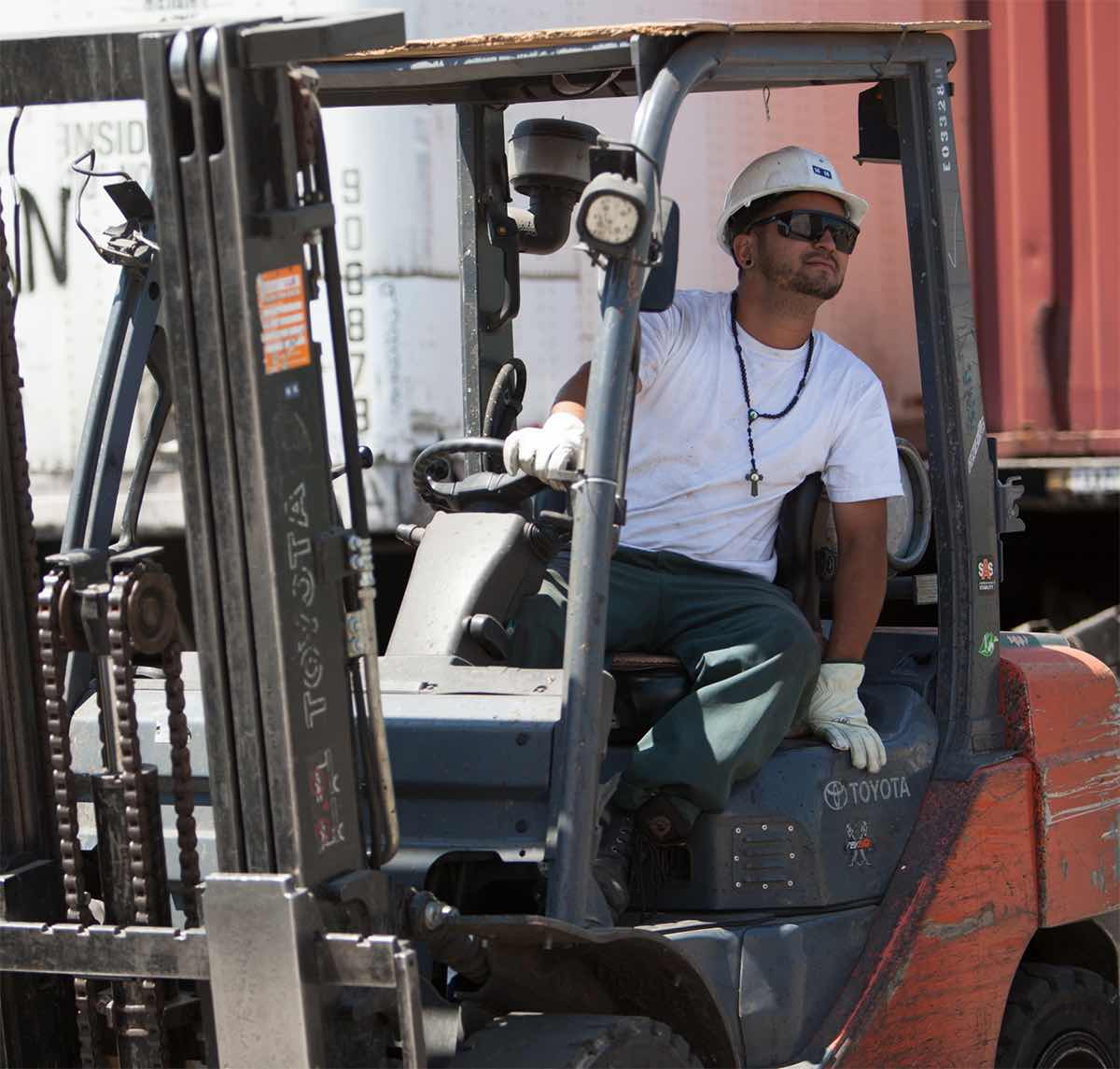 Allan Company Fork Lift and Team Member