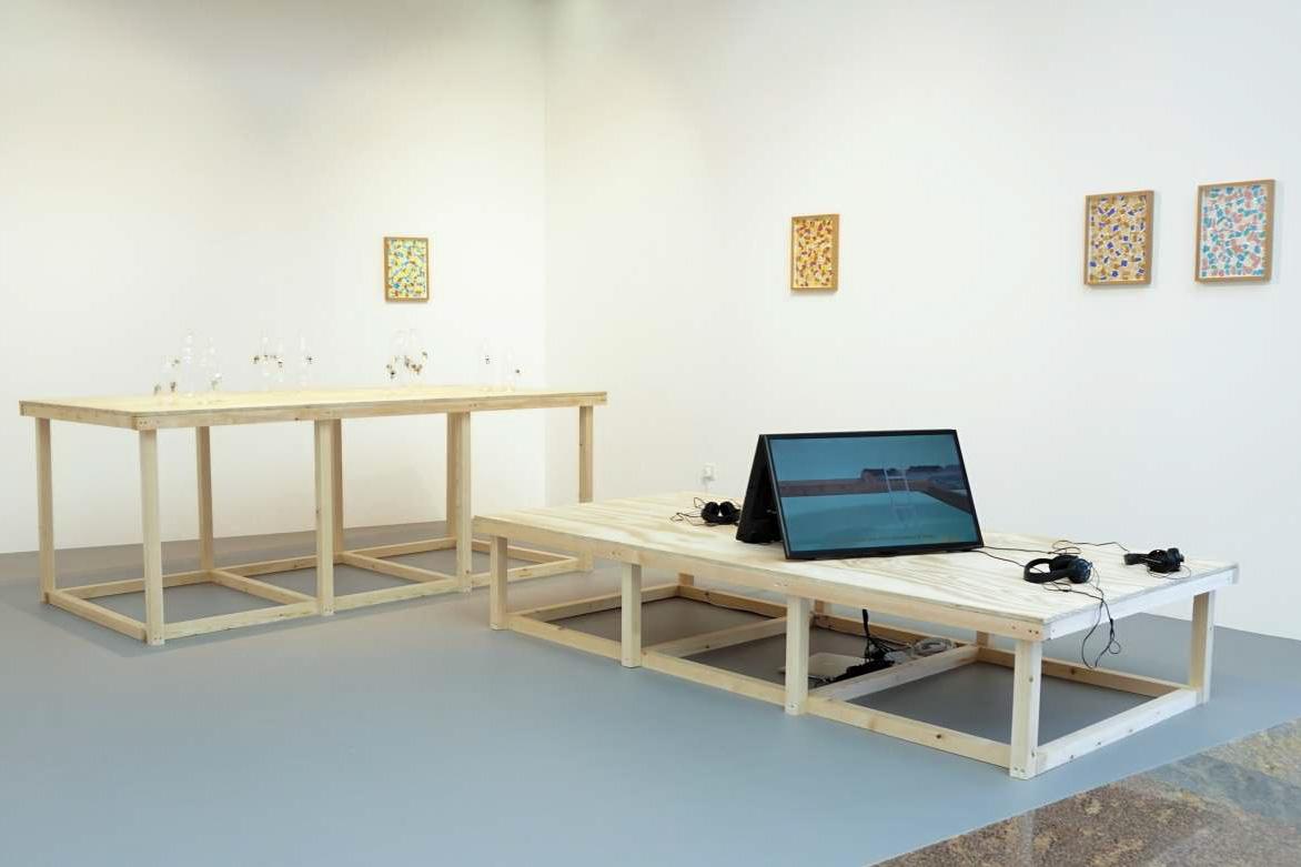Installation View, Richard Healy, The Pines. ArtInternational 2015, Istanbul. Tenderpixel.
