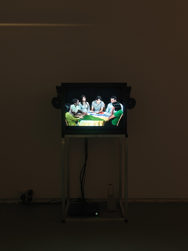 Rehana Zaman, Like an Iron Maiden Trapped Between a Rock and a Hard Place, 2010. Installation view, Tenderpixel, 2014.