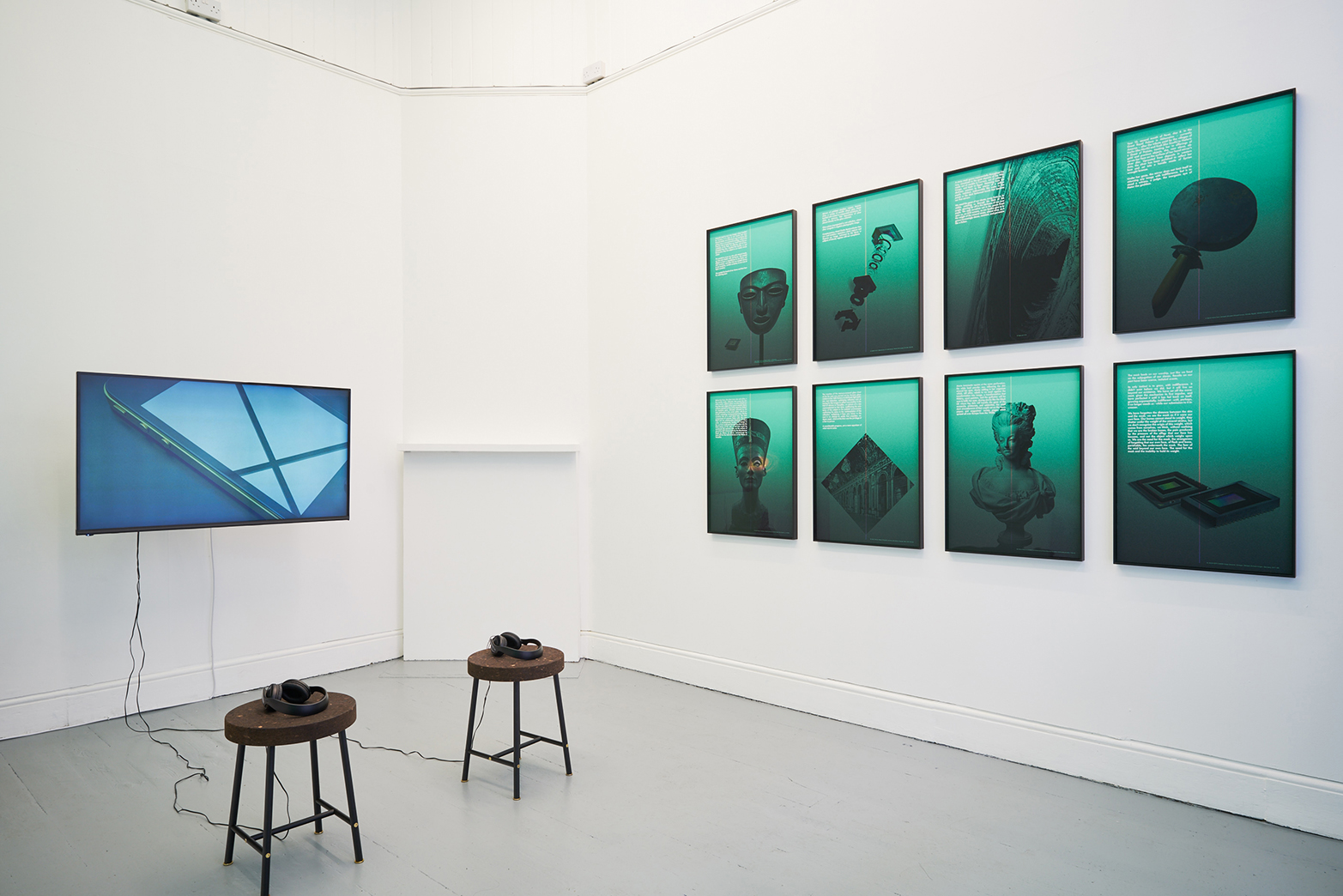 David Ferrando Giraut, installation view at Tenderixel, 2017.