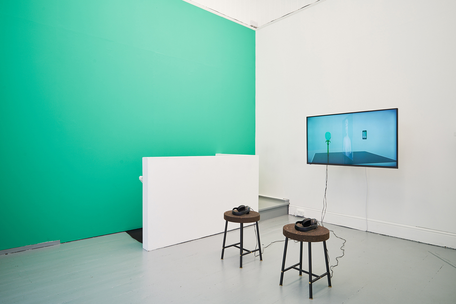 David Ferrando Giraut, CATOPTROPHILIA. Digital animation with sound, 12'14''. Installation view at Tenderpixel.