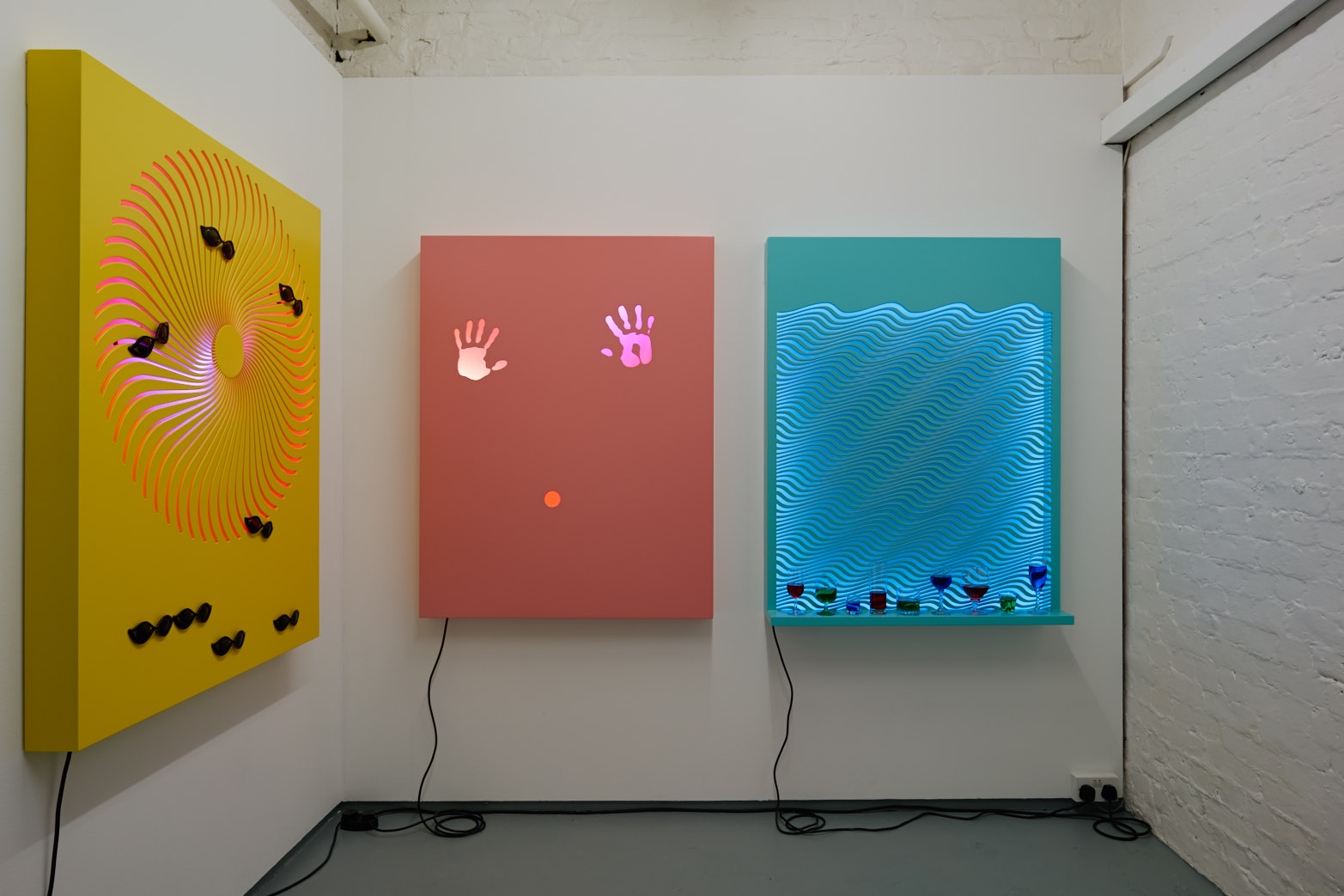 David Ferrando Giraut, Vortex series, 2015. Installation view at Tenderpixel.