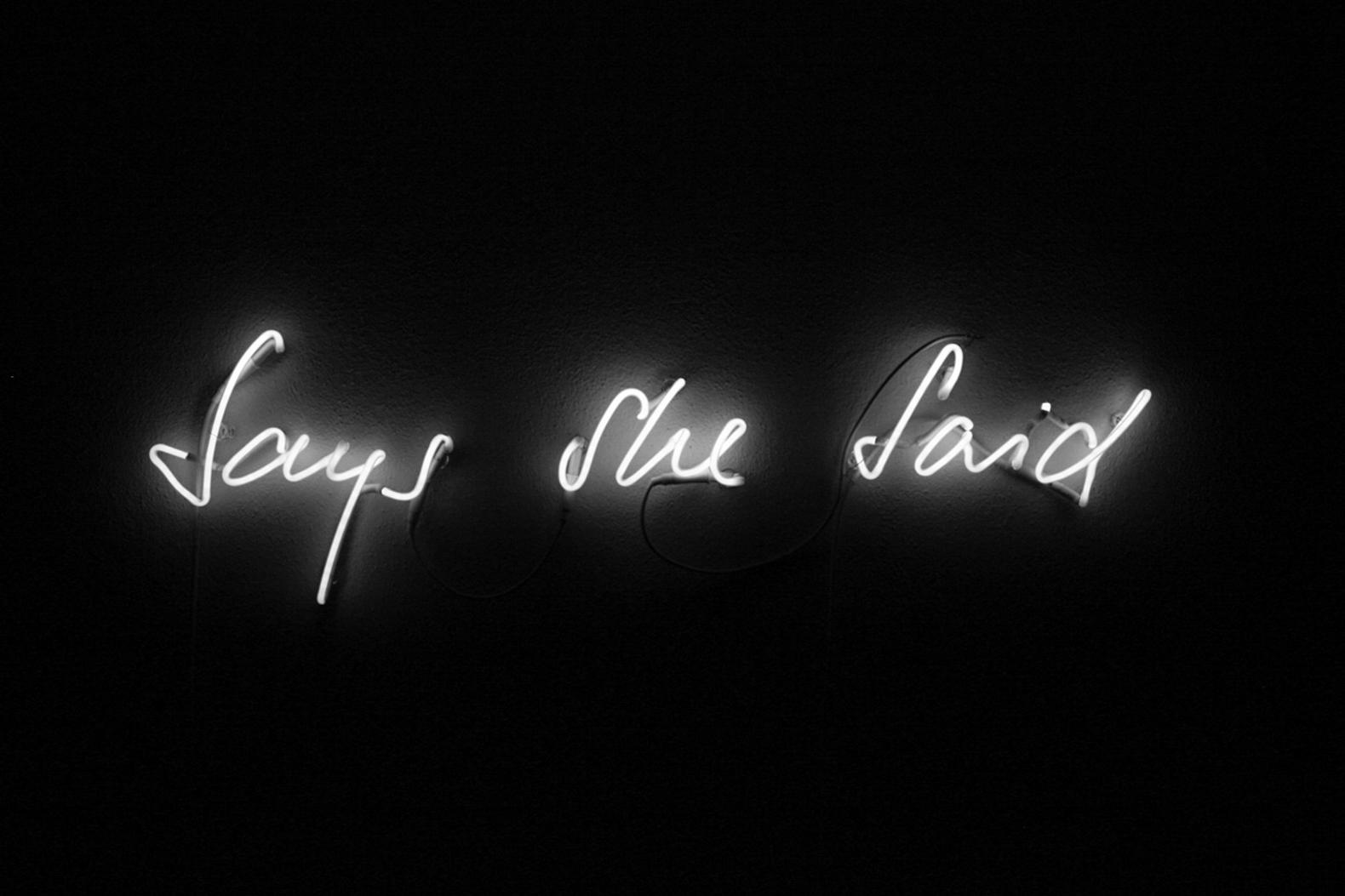 Nicole Bachmann, Neon (Says She Said), 2016
