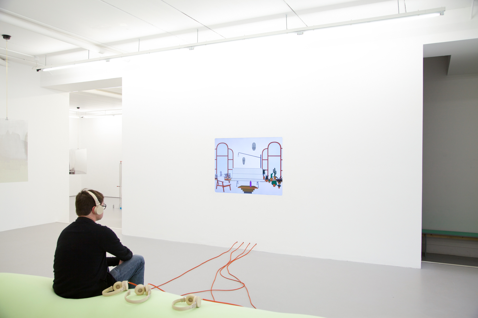 Plasmatic bench, exhibition view at CCA Derry~Londonderry, 2016.