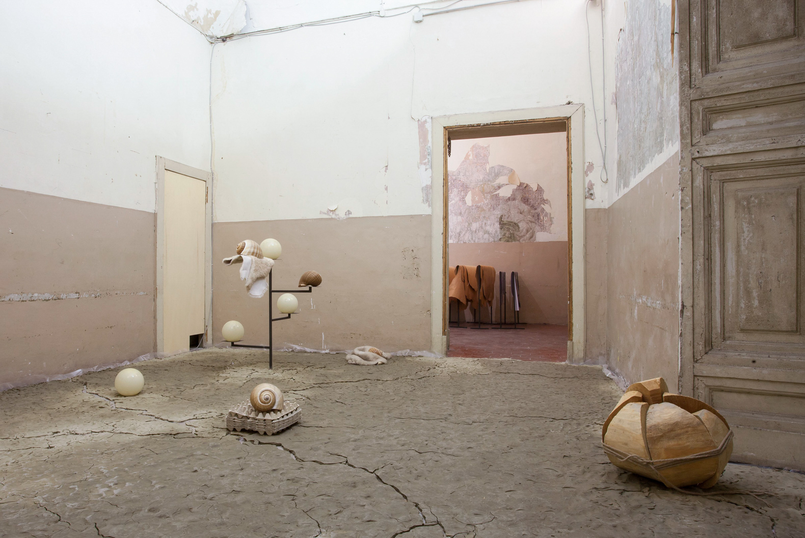 Things That Happen and Things That Are Done. On Beginnings and Matter, installation view, Fondazione Morra Greco, Naples, Italy, 2014